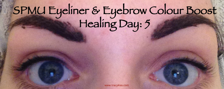 SPMU Eyebrow & Eyeliner Colour Boost Healing Day 5