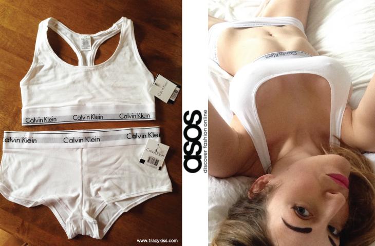 Asos Calvin Klein Modern Cotton Bralette & Short Briefs