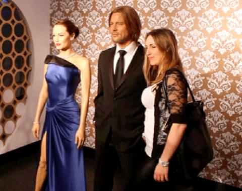Madam Tussauds Tracy Kiss & Brad Pitt + Angelia Jolie