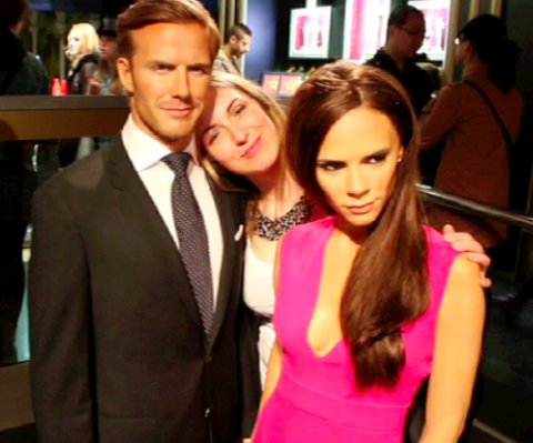 Madam Tussauds Tracy Kiss & David + Victoria Beckham