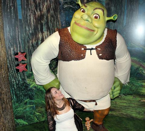 Madam Tussauds Tracy Kiss & Shrek