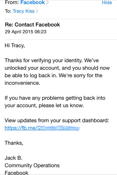 Facebook Verified My Identity