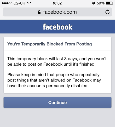 I Was Blocked From Facebook