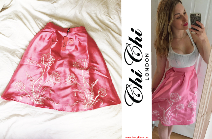 Chi Chi Pink Tulip Lux Skirt