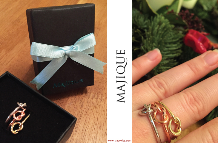 Majique Gold, Silver & Rose Gold Knot Ring Set