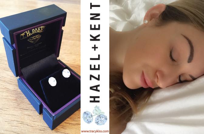Hazel & Kent Topaz CZ Sterling Silver Stud Earrings