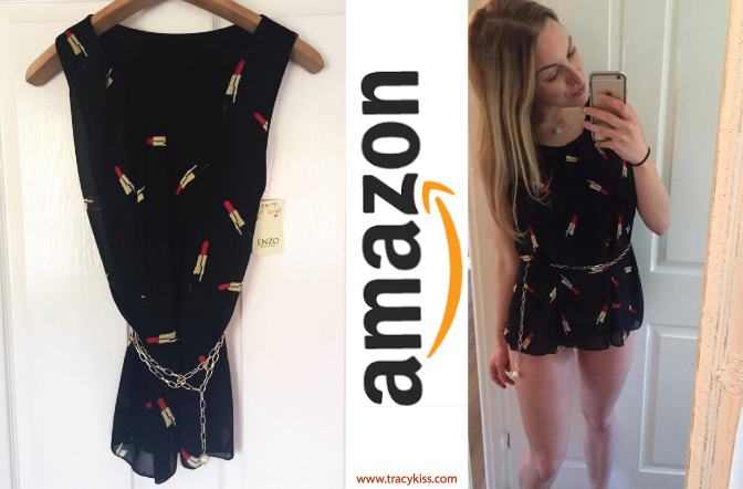 Amazon Wishlist Black Lipstick Print Minidress