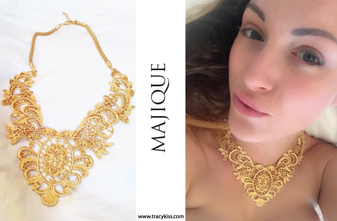 Majique Gold Floral Necklace