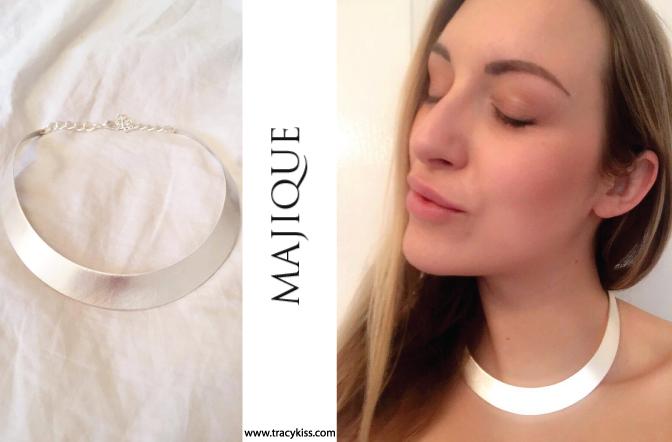 Majique Silver Collar Necklace