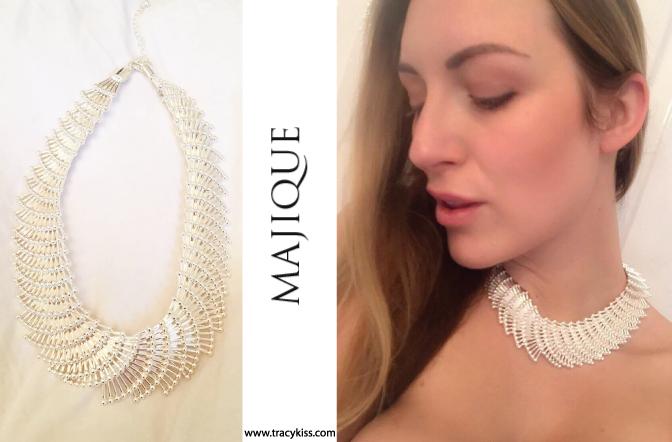 Majique Silver Geometric Necklace