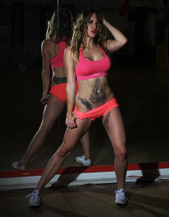 Hayley Gibson Make Up For Tracy Kiss Pegasus Gym