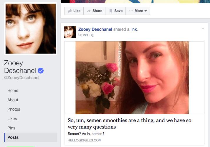 Tracy Kiss Zoe Deschanel