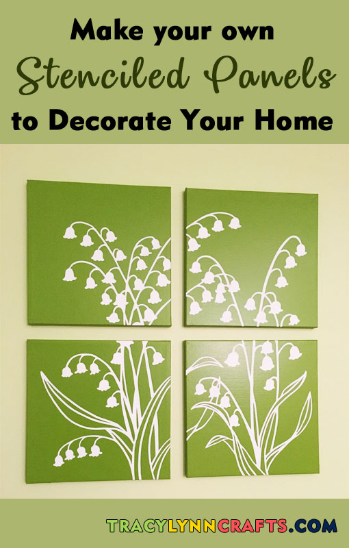 How to make beautiful stenciled canvas panels to decorate your home | #stenciling #diy