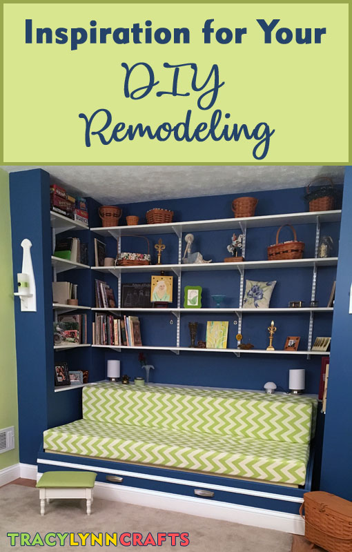 Inspiration for your DIY remodeling project | Home Office DIY Remodeling from Drab to Exciting and Colorful | #diy #homedecor #remodeling