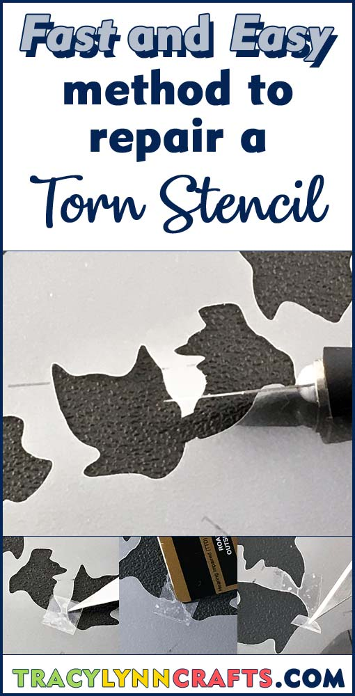 Learn this fast and easy way to repair a damaged stencil | #stenciling #stencil #repair_stencil #fix_stencil