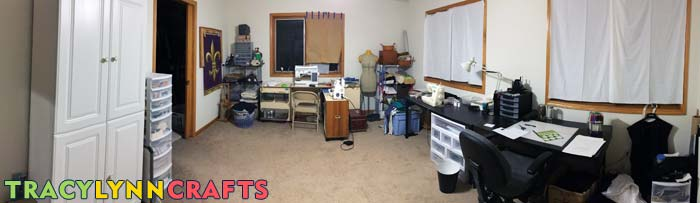 This Is A Panorama Photo Of My Craft Room Before Starting On This Craft  Room Organization