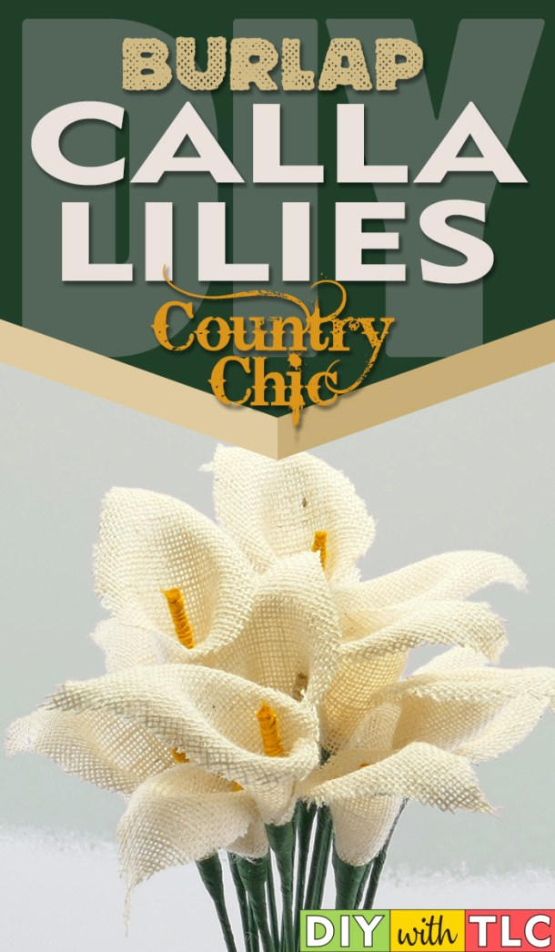 You can quickly make these easy and beautiful burlap calla lilies | #diy #burlap #calla #lily #lilies #burlapflowers #fabricflowers