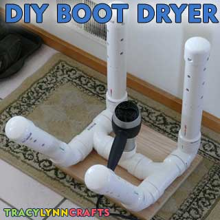 Make your own boot dryer from PVC components