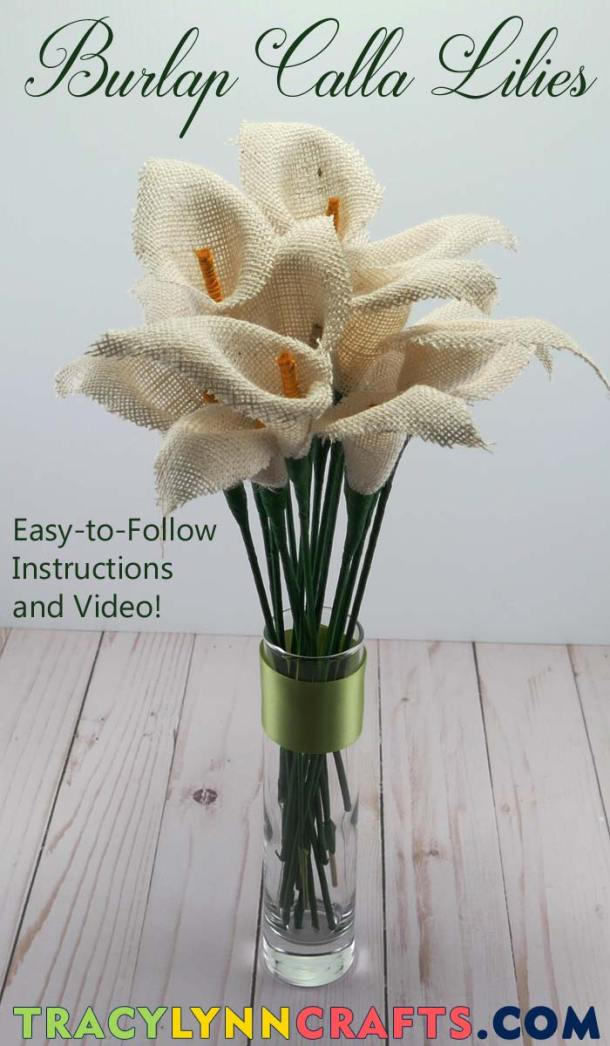 You can DIY these easy and beautiful burlap calla lilies | #diy #burlap #calla #lily #lilies