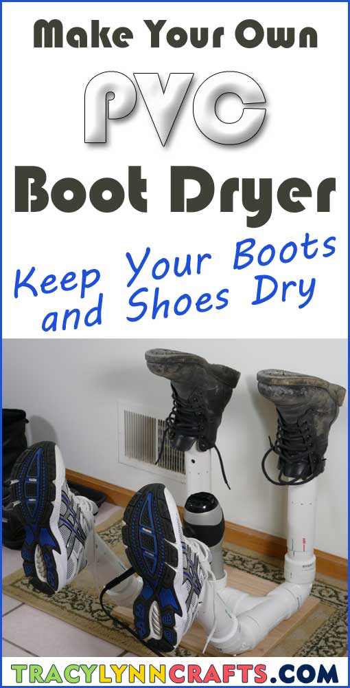 Make your own PVC boot dryer to keep the boots, shoes, gloves, hats, socks of your loved ones dry. | #diy #boot #dryer #pvc #crafts