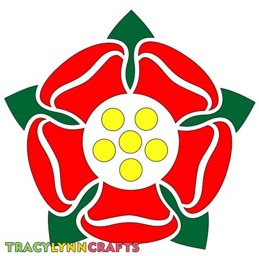 Tudor Rose Stencil with bridges in the design