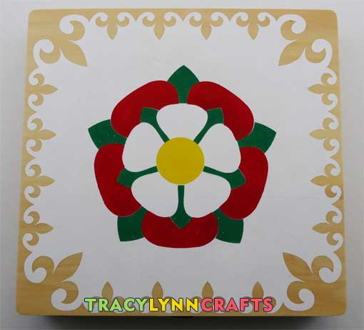 Stenciled Tudor Rose repairs complete