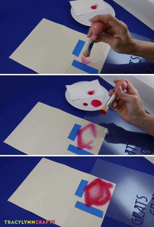 Stencil the graduation cap using the pouncing technique