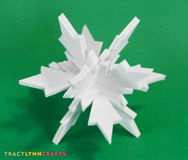 You can make these 3D craft foam snowflakes to fill your tree with holiday fun!