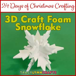 These 3D craft foam snowflakes are fun for your winter holiday