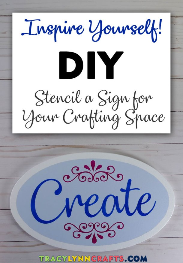 Stencil this sign board to inspire yourself to be creative | #diy #stencil #create #sign #stenciling #cricut