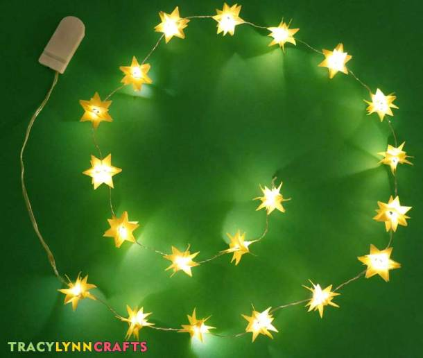 Your LED paper stars are now ready to decorate your home