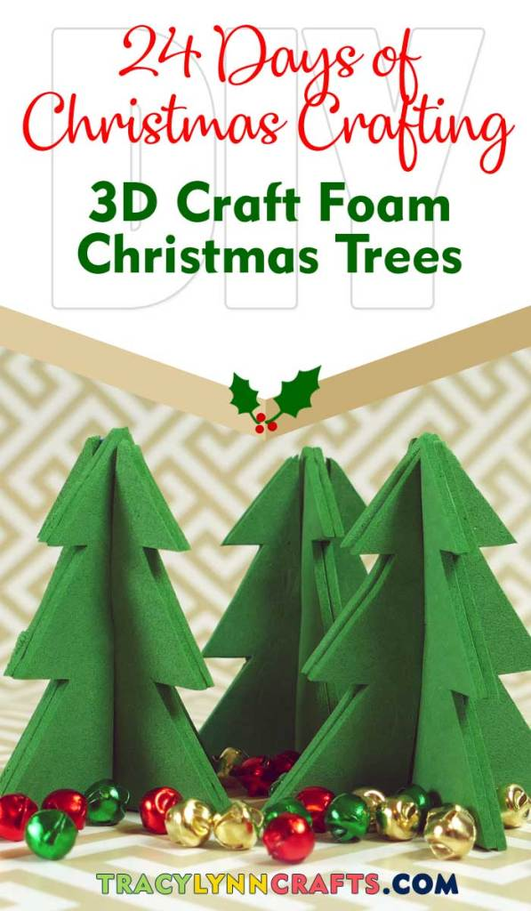 These 3D Craft Foam Christmas Trees are a quick and easy project to add to your Holiday decor | #diy #christmas #craft_foam