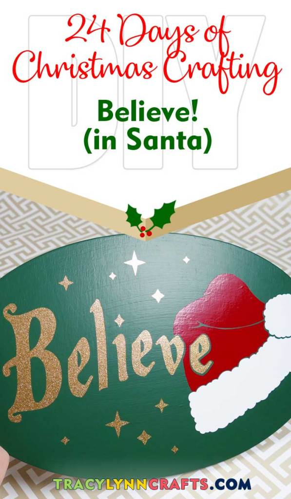 We can all find a way to believe in Santa or what Santa represents this holiday season| #diy #christmas #believe #cricut #vinyl