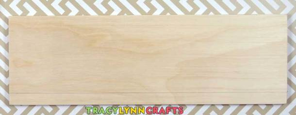 Make a pencil mark half an inch in from the front edge of the basswood board