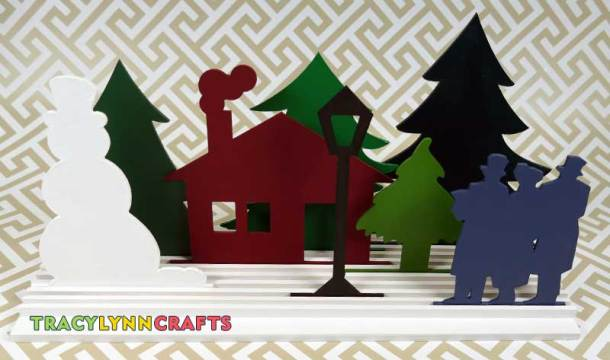 This is one of the ways you can arrange the Winter Scene cutouts