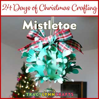 Get your Christmas kisses under this DIY paper mistletoe
