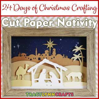 You can add this cut paper nativity scene to your Christmas decor to use year after year