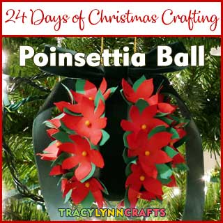 In a traditional Christmas flower, this Poinsettia ball with add color to your holiday decor