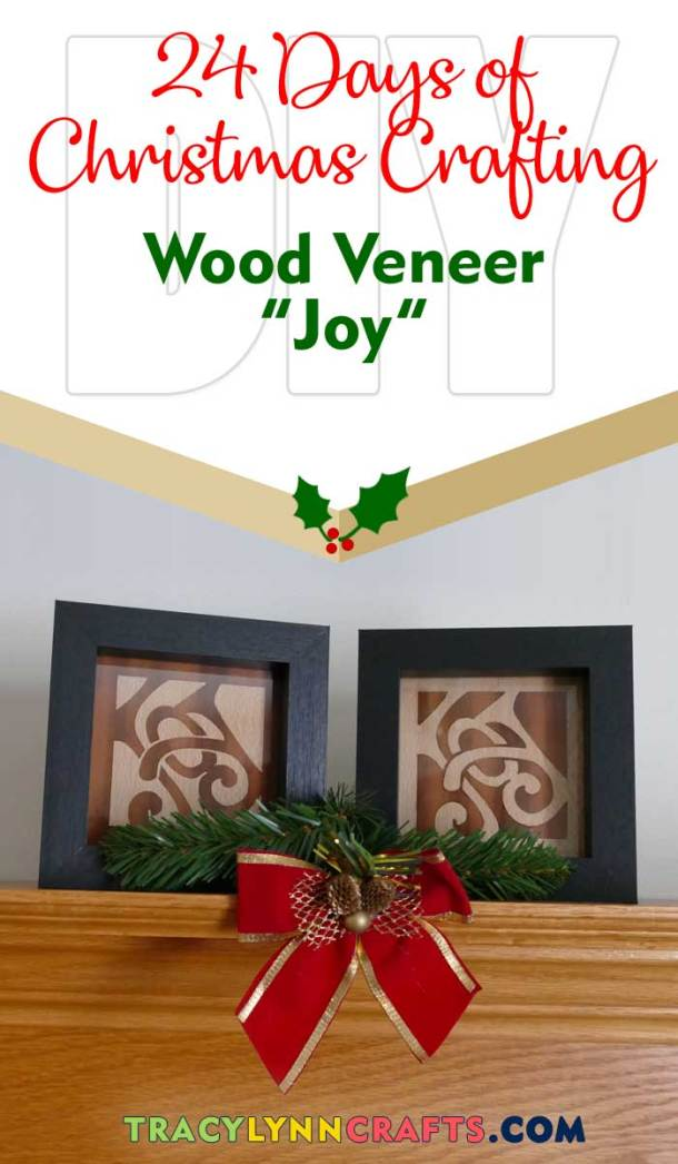 From wood veneer, you can make these joyous holiday plaques| #diy #cricut #veneer #christmas