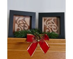 From wood veneer, you can make these joyous holiday plaques
