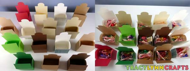 You can one paper chest or several and you can make them out of different colors of card stock