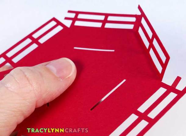 3D Paper Lighthouse - Railing fold on one section