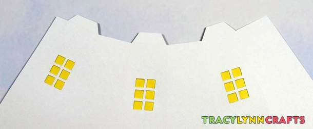 3D Paper Lighthouse - The window backings