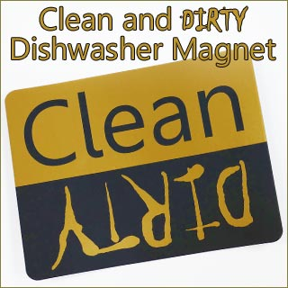 Help your family know if the dishwasher is clean or dirty with a clean and dirty dishwasher magnet