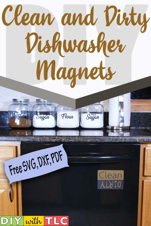 Help your family know if the dishwasher is clean or dirty with a clean and dirty dishwasher magnet | #diy #craft #cricut #clean_dirty_dishwasher_magnet #dishwasher_magnet