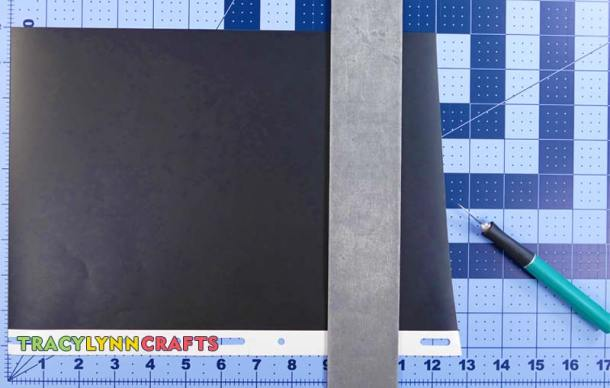 "Cut the base layer of vinyl to 8-1/2"" x 11"""