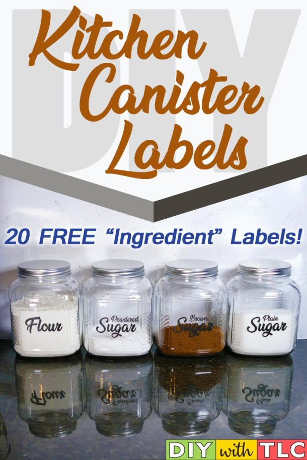 You can make your own kitchen canister labels to help organize and decorate your kitchen| #diy #organize   #kitchen_canister_labels #cricut #kitchen_labels #canister_decals #kitchen_canister_decals #organize_kitchen #beginner_cricut