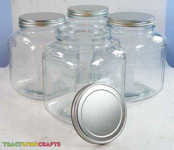 For kitchen canister labels made from vinyl, you will need to use containers that have smooth surfaces such as glass, glazed ceramic, or metal