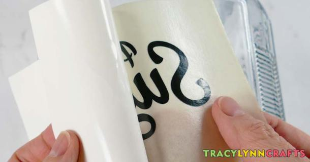 Peel the vinyl off the carrier paper using the transfer tape