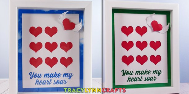 You make my heart soar - Tell someone you love that they inspire you with this Shadow box heart art